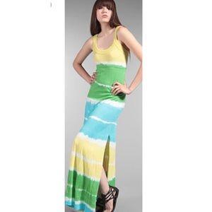 C&C California Blue Tie Dye Maxi Dress Size Medium